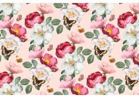 浪漫的花卉背景_4122015