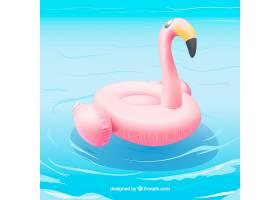火烈鸟漂浮在游泳池里_2686723