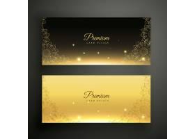 黑色和金色的装饰横幅_2414375