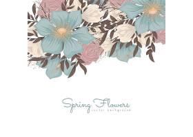 花卉设计边框蓝色的花_12234775