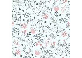 柔和粉色的花卉图案_6390576