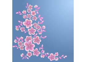 手绘装饰矢量花卉元素用于设计页面装饰元_1283380