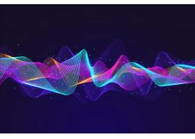 抽象均衡器粒子波背景_5940813