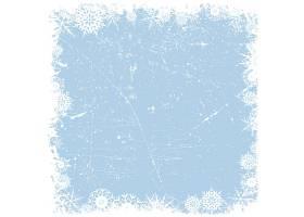 冰雪背景上的格朗日雪花边框_827731