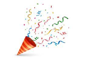 带有五彩纸屑和蛇形爆炸的生日帽_4250319