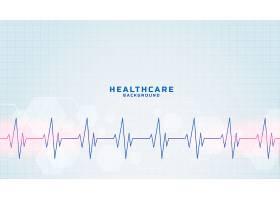医疗保健和医疗背景与心跳线路_9191741