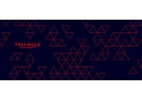 带有红色三角形图案的现代深色背景_5548642
