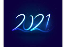 2021年新年快乐霓虹灯款式蓝条纹背景_11563421