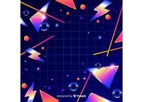 80年代的几何多彩装饰背景_5061983