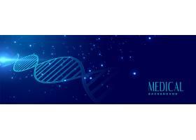 DNA签名医疗保健横幅_7186228