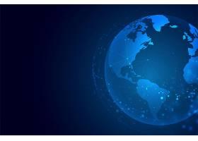 一种具有网络连接背景的技术地球_3922436