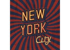 红色矢量复古纽约t恤印花质地简陋_10600823