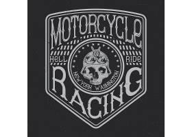 摩托车排版t恤图形徽章和标签设计_9512770