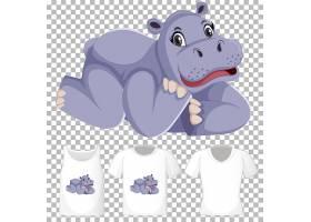 河马在铺位卡通人物身上穿多款衬衫_12337417