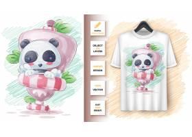 厕所里的熊猫海报和商品宣传_814139102