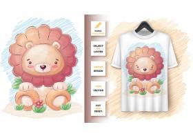 可爱的狮子海报和促销活动_9558550