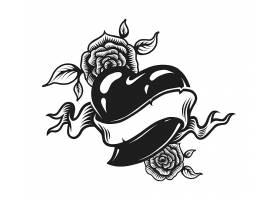 复古单色浪漫纹身概念_8084494
