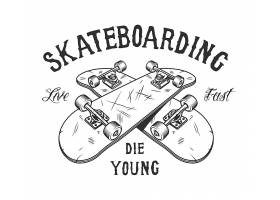 复古单色滑板活动标识_8084195