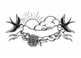 复古浪漫纹身模板_8084495