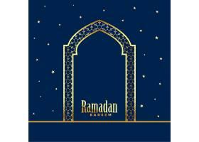 金色清真寺大门斋月卡里姆背景_4299101