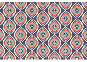 闪亮的蓝色几何凹槽无缝图案_12267454