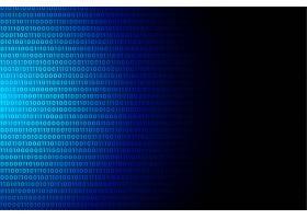蓝色数字二进制码数据编号背景设计_8289975