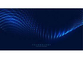 蓝色数字技术背景粒子发光_6918283