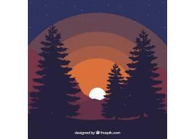 黄昏的风景背景_1090742