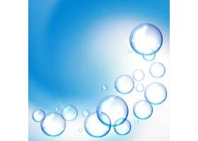 蓝色背景上闪亮的水泡背景_9191738
