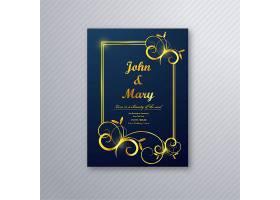 豪华婚纱卡传单模板设计矢量_3014464