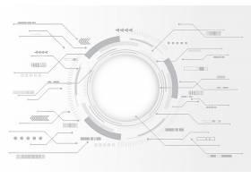 白色技术背景带圆形图表_6344424