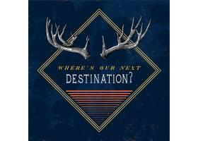 目的地旅游标识设计矢量_3109446