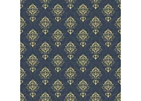 矢量锦缎无缝图案背景古典奢华的老式锦缎_1283572