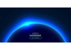 科技风格的星球蓝色发光灯_10140234
