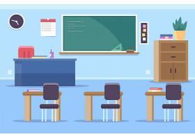 空荡荡的学校班级视频会议的背景_10346194