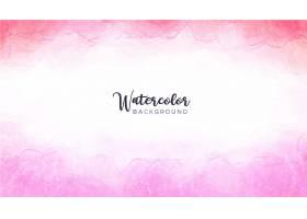 粉红色水彩背景_7425130
