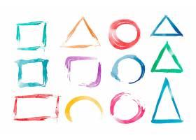 水彩几何形状向量集_3458644