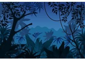 游戏背景热带丛林之夜_8626911