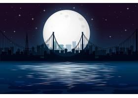 漆黑的城市夜景_4124608