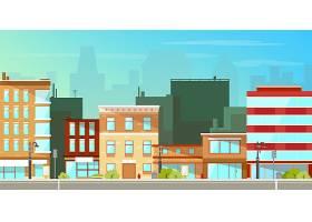 现代城市建筑平面背景_4393774