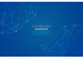 抽象技术线网蓝色背景_4299009