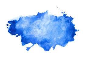 抽象蓝色水彩画纹理背景设计_6558648