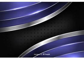 抽象闪亮的金属蓝背景_5500863