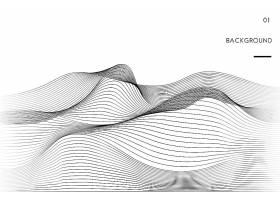 数据可视化动态波型矢量_3585494