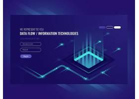 数据流概念信息技术高科技概念_2910173