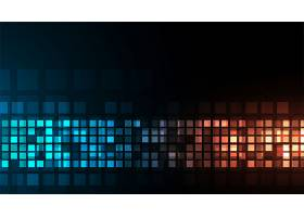 数码技术闪亮的蓝橙暗背景设计_10136763