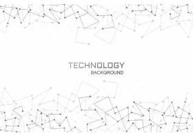 数字技术多边形连接背景_6613618
