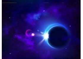 日全食或月全食月亮覆盖太阳神秘的外层_4997239