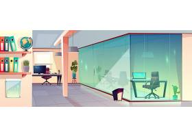 明亮的办公室透明玻璃墙和瓷砖的现代工作_4015262