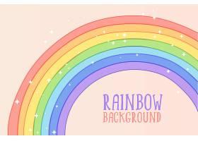 可爱的手绘彩虹粉色背景_5504145